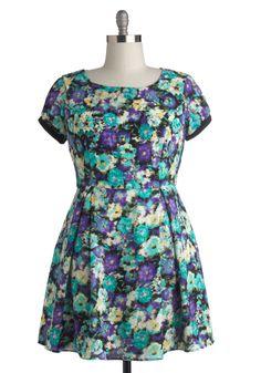 Winning Watercolors Dress in Plus Size | Mod Retro Vintage Dresses | ModCloth.com