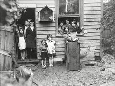 Ouse, Tasmania. The Pearce family at their house at the height of the Depression.
