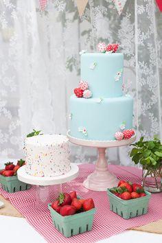 Cute birthday cake and smash cake - Berry Sweet Birthday Party