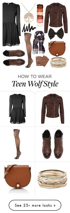 """allison argent inspired teen wolf"" by bellafantasy03 on Polyvore featuring Glamorous, Hue, Miss Selfridge, Karl Lagerfeld, AeraVida, Kendra Scott, NYX and GANT"