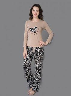 Bayan Pijama Takımı 5019 Designer Blouse Patterns, Blouse Designs, Pyjamas, Pajama Party Outfit, Pijamas Women, Nightwear, Lingerie Sleepwear, Night Suit, Womens Pyjama Sets