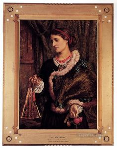 The Birthday A Portrait Of The Artists Wife Edith British William Holman Hunt