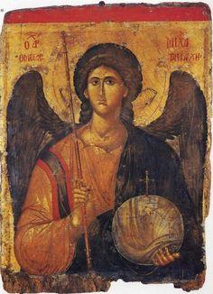 Archangel Michael, the Byzantine Empire, 14 century. The Byzantine museum of Athens. Byzantine Art, Byzantine Icons, Religious Icons, Religious Art, Greek Icons, Saint Michel, Angel Pictures, Art Icon, Orthodox Icons