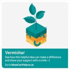 """VERMICHAR combines two technologies: """"VERMI-"""" refers to worms, especially using earthworms to process vegetable waste into organic plant fertilizers characterised by a high population of beneficial micro-organisms.""""-CHAR"""" which is a specially designed type of carbonised biomass which helps to retain moisture and nutrients in the soil and provides a protective habitat for beneficial micro-organisms. http://www.blog.fnb.co.za/ideas-can-help/view-idea/?id=3231"""