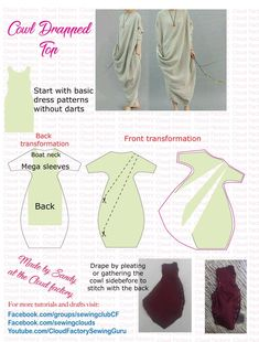 Awesome 10 Sewing tutorials tips are offered on our website. look at this and you wont be sorry you did. Japanese Sewing Patterns, Dress Sewing Patterns, Sewing Patterns Free, Clothing Patterns, Sewing Hacks, Sewing Tutorials, Sewing Tips, Sewing Crafts, Pattern Draping