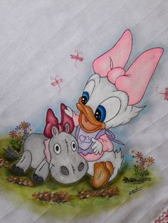 Pato Donald Y Daisy, Fabric Painting, Snoopy, Kids Rugs, Disney, Fictional Characters, Decor, Art, Baby Things