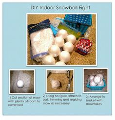 INDOOR SNOWBALL FIGHT -  Indoor Snowball Fight for the whole family... Christmas decor!