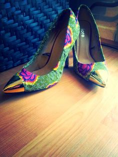 Beautiful Ankara Shoe ~Latest African Fashion, African Prints, African fashion styles, African clothing, Nigerian style, Ghanaian fashion, African women dresses, African Bags, African shoes, Nigerian fashion, Ankara, Kitenge, Aso okè, Kenté, brocade. ~DKK