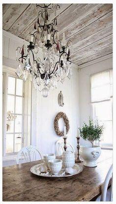 Stikwood ceiling...genius!!!