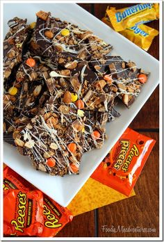 Leftover Halloween Candy Bark | FoodieMisadventures.com