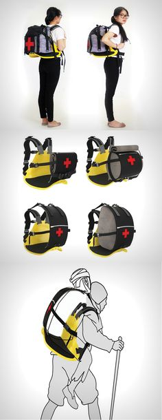 The 'Portable Rescue Bag' is a potential life-saver for mountaineers, it is a piece of design intervention that allows the human to become an ambulance... READ MORE at Yanko Design !