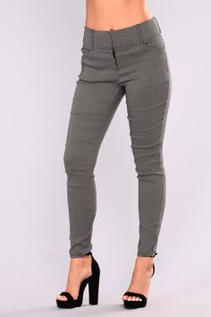 Myra Print Pants - Black
