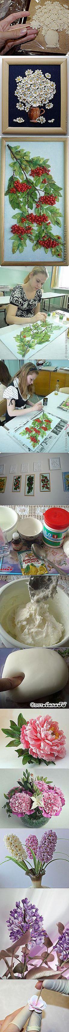 ХОЛОДНЫЙ ФАРФОР | Идеи и фотоинструкции бесплатно на Постиле Cold Porcelain Flowers, Porcelain Clay, White Porcelain, Stencils, Play Clay, Cricut Cards, Clay Flowers, Salt Dough, Air Dry Clay