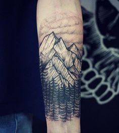 ba5ecf66e Montanhas rochosas poderia ser difícil de conquistar Hiking Tattoo, Image  Tatoo, Mountain Sleeve Tattoo
