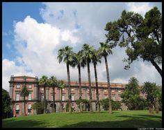 Naples : Palazzo Reale di Capodimonte - 4/5    Il Palazzo e Museo di Capodimonte è un grande palazzo dei Borboni a  Napoli, ex residenza estiva e di caccia dei re delle Due Sicilie.
