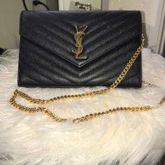 c4f0ea5b7b447 Authentic YSL Large Quilted handbag Authentic YSL handbag. Gold hardware.  Good worn condition.