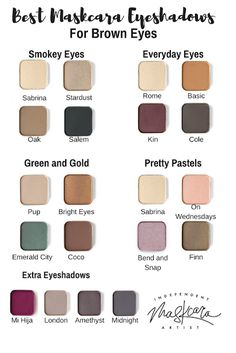 Maskcara Eyeshadows. Best eyeshadows for brown eyes. Brown eyes. Maskcara Beauty. Blendable eyeshadow