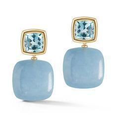 Mykonos Blue, Jewelry Quotes, Blue Party, Jewelry Photography, Blue Topaz, Jewels, Drop Earrings, Gemstones, Pantone