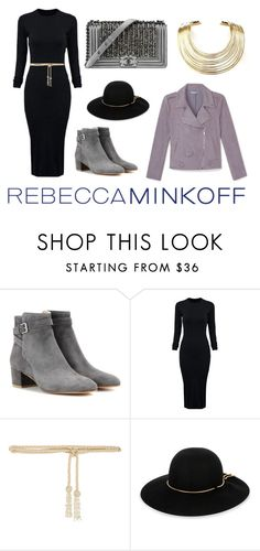 """""""Shades of Grey"""" by fashion-freaks ❤ liked on Polyvore featuring Rebecca Minkoff, Gianvito Rossi, WithChic, Chanel, Valentino, Lanvin, Bisjoux, women's clothing, women and female"""