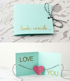 Immagine tramite We Heart It https://weheartit.com/entry/156288680 #diy #doityourself #love #loveletter #valentinsday #surprisecard