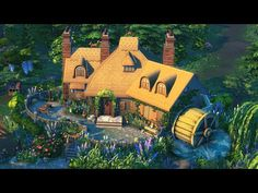 Sims Building, Sims 4 Build, Cottage Living, The Expanse, Youtube, Inspiration, Painting, Ideas, Biblical Inspiration