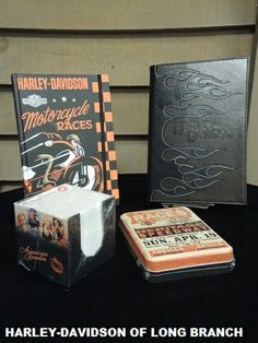 These retro, race inspired journals and note cards make the perfect gift! Harley-Davidson/Buell of Long Branch www.hdlongbranch.com