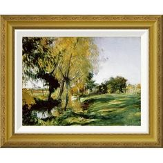 Global Gallery 'At Broadway' by John Singer Sargent Framed Painting Print Size: