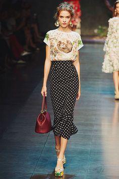 {fashion inspiration   runway : dolce & gabbana spring-summer 2014, milan} by {this is glamorous}