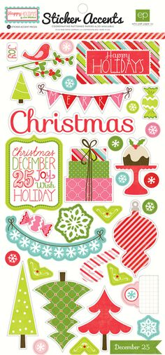Echo Park - Happy Holidays Collection - Cardstock Stickers at Scrapbook.com