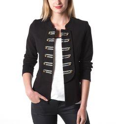 73d2a2fde0c1 Veste femme officier - Noir - Vestes   Blousons - Femme - Promod Veste  Costume Femme