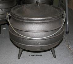 Size 14 Potjie Pot 9.5 gallon Cauldron Reenactments Wilderness Survival Pure Cast iron