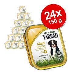 Animalerie  Lot Yarrah Bio 24 x 150 g pour chien  Wellness poulet varech