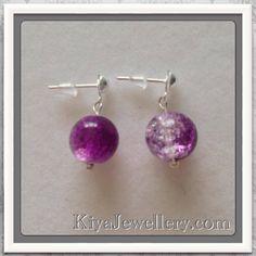 Glass earrings. Handmade