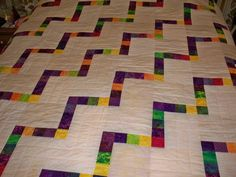 Modern steps - Commission quilt for raffle. Contemporary, Modern, Quilts, Home Decor, Trendy Tree, Decoration Home, Room Decor, Quilt Sets, Log Cabin Quilts