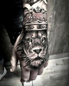 tattoos for men, hand lion tattoo, lion tattoo on hand, hand tattoo - My list of best tattoo models Dope Tattoos, Leo Tattoos, Badass Tattoos, Animal Tattoos, Trendy Tattoos, Future Tattoos, Body Art Tattoos, Sleeve Tattoos, Lion Tattoo Sleeves