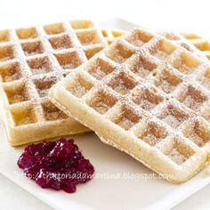 Waffle, waffel o wafel alla belga (o goufre)
