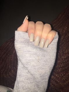 So In Love With My Nails Square Medium Length Nude Acrylics My Style Nails 2017 Nails