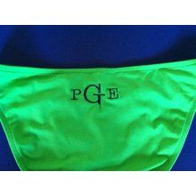 Monogrammed swimsuit bottoms - too cute!