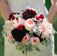 Wedding ideas Burgundy peach
