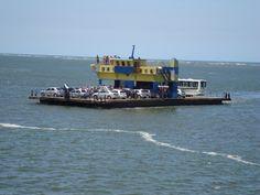 Ferry boat from mainland Paraná to Guaratuba Beach...Brazil