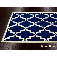 Handmade Luna Marrakesh Trellis Wool Rug 5 X 8 Multiple Colors Blue And Yellow Living Roomliving