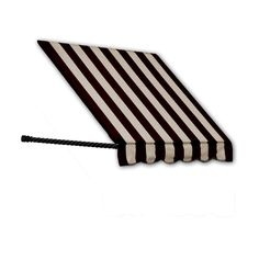 AWNTECH 7 ft. Santa Fe Window Awning (31 in. H x 24 in. D) in Black/Tan Stripe