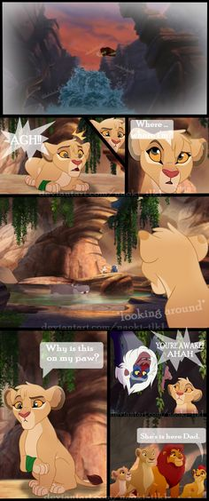 That's my first time doing a comic a little more detailed than I did. well there is the comic 1 of this new adventure uvu I hope you like it. {+ Bora's adventure - Page 1 +} Lion King Story, Lion King 1, Lion King Fan Art, Disney Lion King, Lion King Drawings, Lion Drawing, Disney Au, Disney Fan Art, Animal Sketches