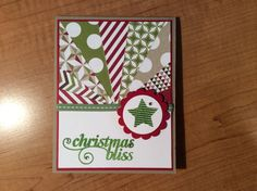 New Stampin up Christmas Bliss