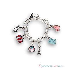 Hot Pink Daisy Rhinestone Necklace /& Bracelet Set fits American Girl Doll