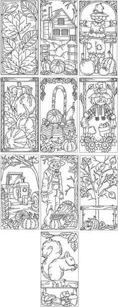 Embroidery Designs Patterns simple craft for a lazy fall Saturday - color and laminate to make bookmarks :) Coloring Book Pages, Printable Coloring Pages, Coloring Sheets, Machine Embroidery Designs, Embroidery Patterns, Zentangle, Advanced Embroidery, Digi Stamps, Coloring For Kids
