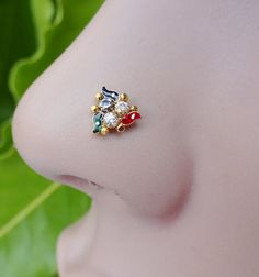 Nose piercingGold Nose StudIndian Nose by TheEthnicJewels on Etsy