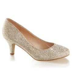 Gold Sparkle Doris Heels