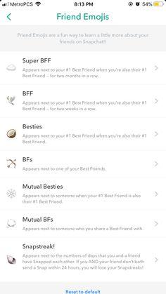 Snapchat Streak Emojis, Noms Snapchat, Snapchat Best Friends, Snapchat Friend Emojis, Snapchat Quotes, Best Snapchat, Snapchat Posts, Nom Instagram, Instagram Emoji