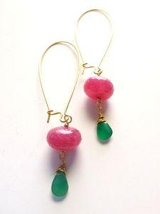 Pink Sapphire Earrings - Lauren Embree Jewelry